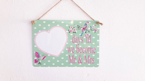 Wedding Countdown Plaque