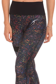 Floral Microfiber Leggings For Women