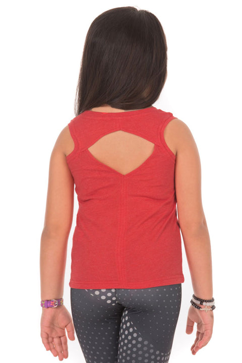 Girls Back Cut Tank Top