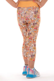 Girls Flowery legging Capri
