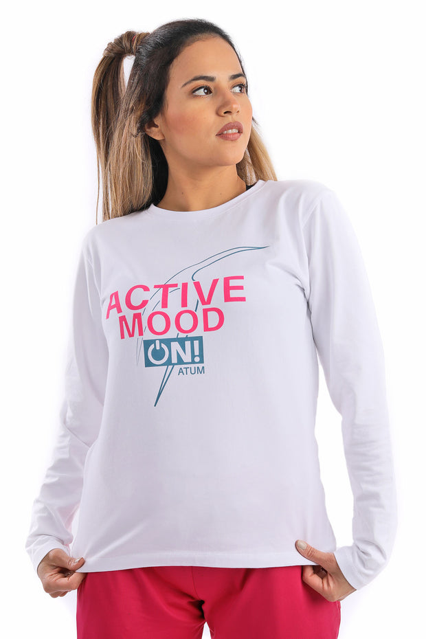 0354 Woman's L/S Active mode Cotton T.Shirt