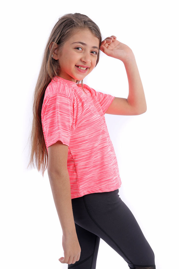 0343 Girl's Color Shaded Crop top 0343 Girl's Color Shaded Crop top