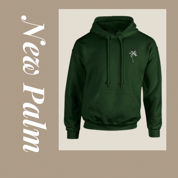 New Palm hoodie forest green - NewPalm Collection