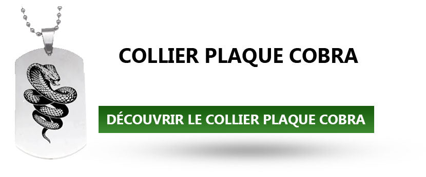 Collier Plaque Cobra