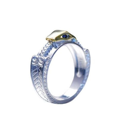 Bague Serpent Or Blanc