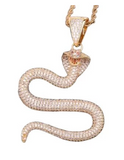 Collier Serpent Doré Rigide