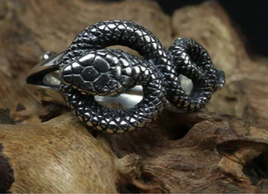 Bague Serpent Argent Simple