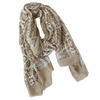 Foulard Marron Motifs Serpent