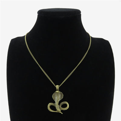 Collier Serpent <br> Cobra Majestueux (Bronze)