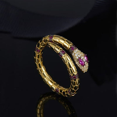 Bague Serpent Zirconium