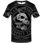 T-shirt Serpent Squelette