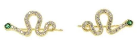 Boucles d'Oreilles Serpent Or