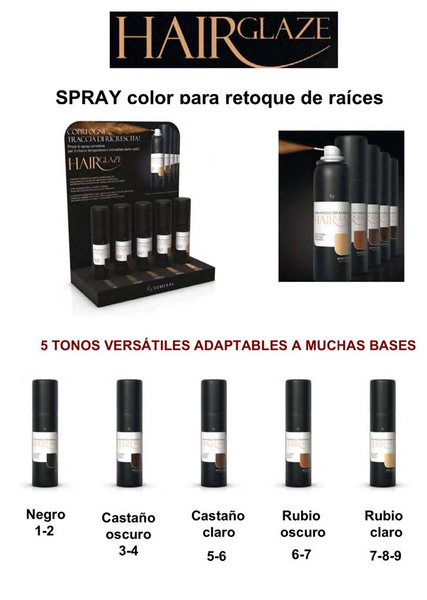 Spray Color Hair Glaze Demeral - Natura Estilo