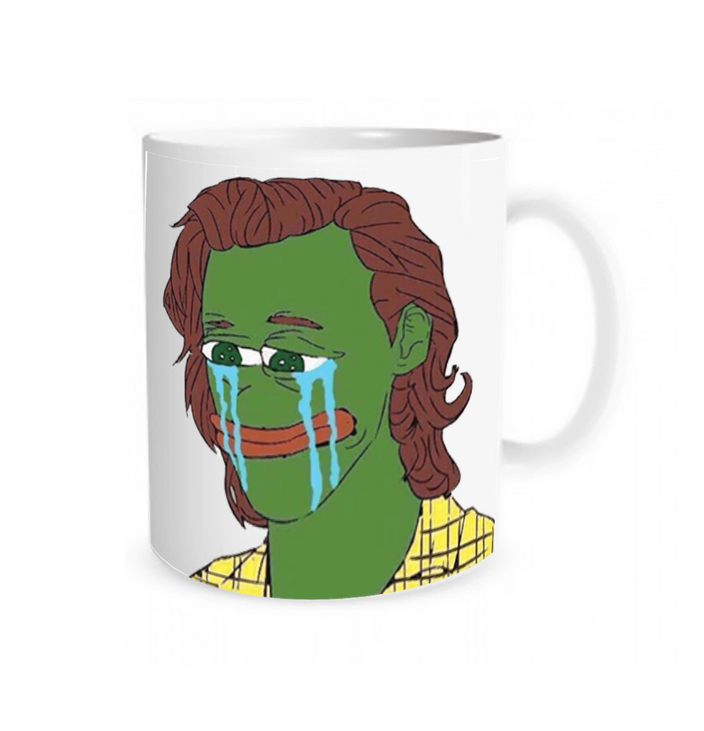 Harry styles sad Pepe humor mug