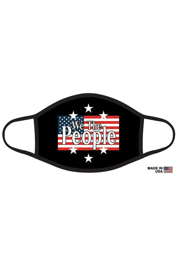 Face Masks Black Graphic Printed Patriotic Face Mask Unisex Adult