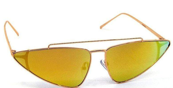 Sunglasses Yellow Modern Sexy Sleek Sunglasses- Assorted Colors