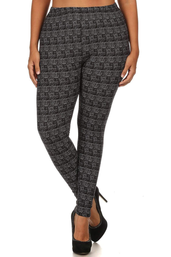 Multi Plus Size Knit Full Length Leggings