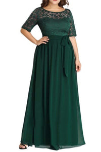 Plus Size Mother of the Groom Dress- Green
