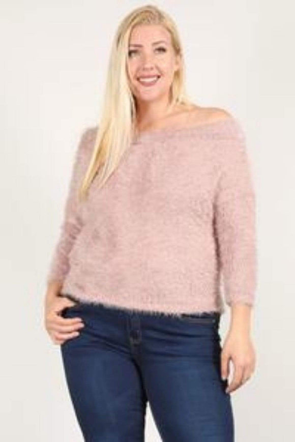 Tops Plus Size Textured Long Sleeve Top- Assorted Colors