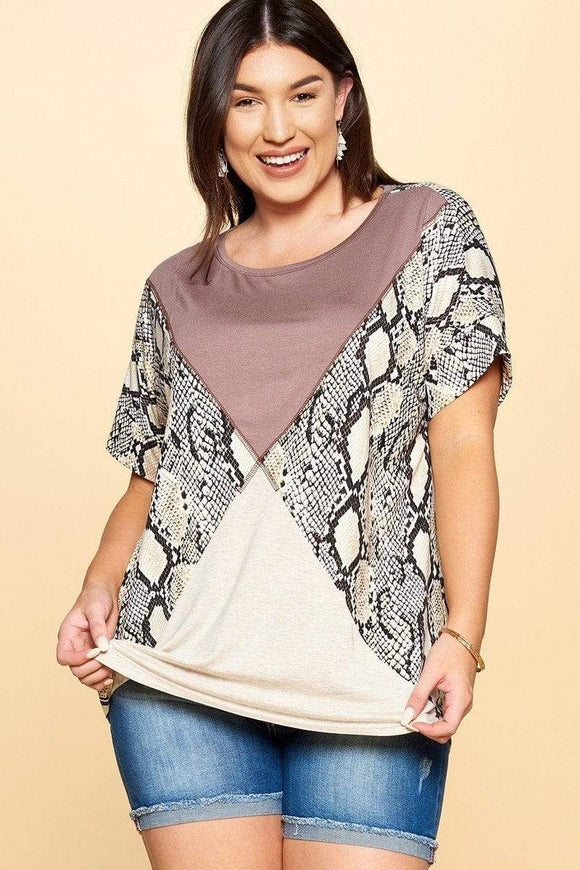 Python Printed Knit Top