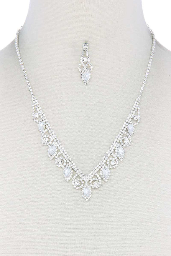 Silver Rhinestone Necklace