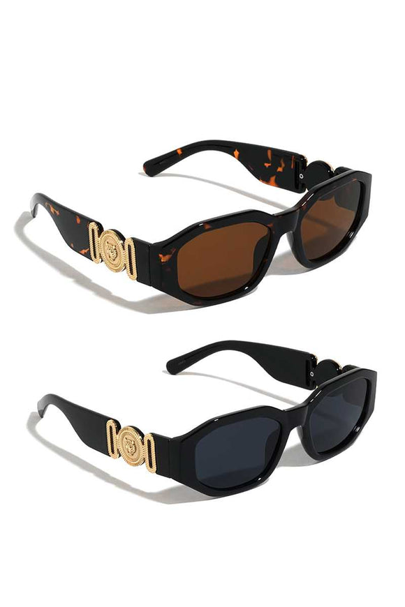 Stylish Plastic Tiger Coin Sunglasses