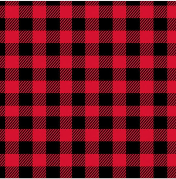 Buffalo Plaid - red & black printed vinyl