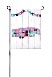 Coral Fifth Wheel (New Design) Camper without words Garden Flag