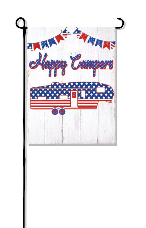 Patriotic Fifth Wheel (New Design) Camper Garden Flag