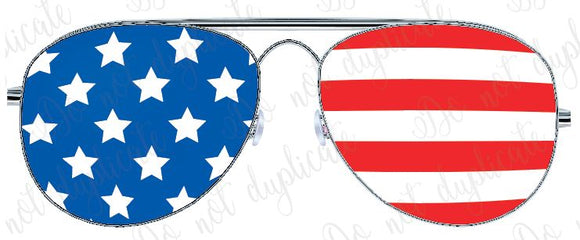 USA Sunglasses Vinyl Heat Transfer