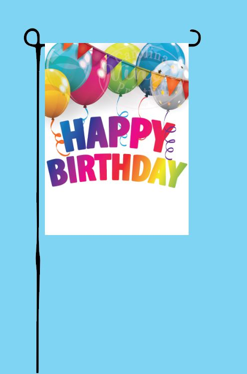 Bright Birthday Garden Flag