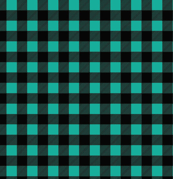 Buffalo Plaid - Teal & Black Printed Vinyl