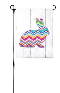 Easter Bunny - Chevron Garden Flag
