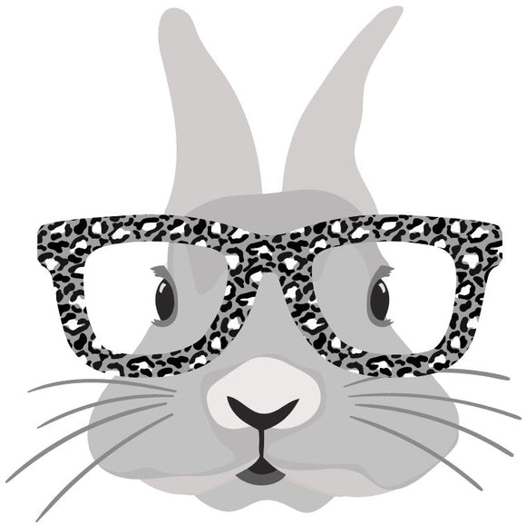 Bunny with Leopard glasses Heat Transfer