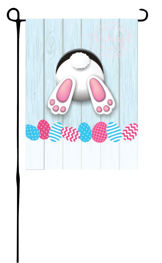 Bunny in Hole Garden Flag