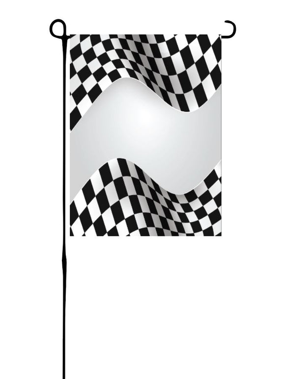 Checkered Racing Garden Flag