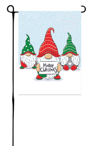 Christmas Gnomes Garden Flag