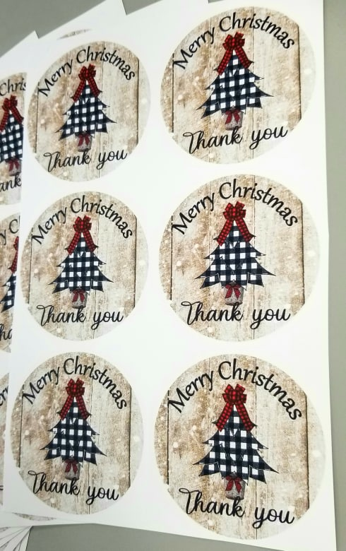 Christmas Thank You Stickers