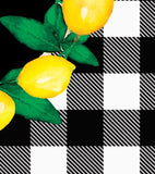 Lemon Wreath on Buffalo Plaid Garden Flag