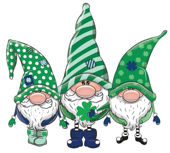 St. Patrick's Day Clover Gnomes Heat Transfer