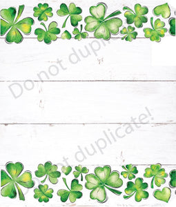Clovers on White Wood Magnetic Mailbox Cover