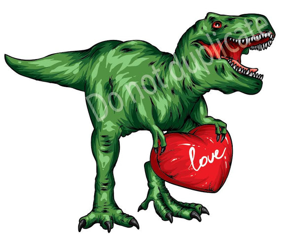 Dinosaur with Heart Heat Transfer