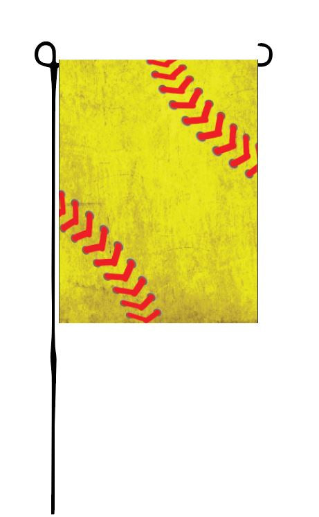 Dirty Softball Garden Flag