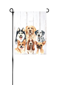Dog Group Garden Flag
