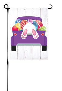 Easter Truck with Bunny & Eggs Garden Flag