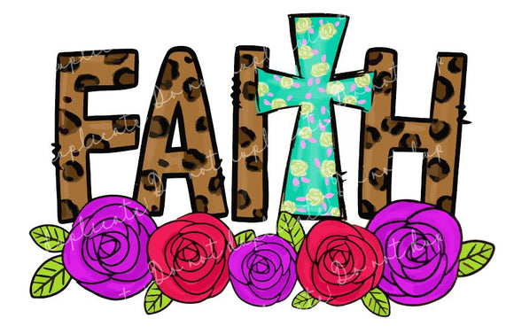 FAITH Cross Vinyl Heat Transfer