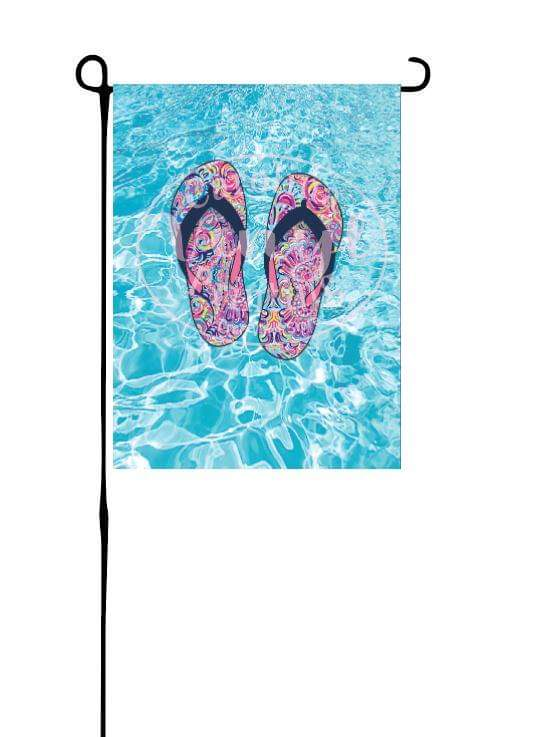 Flip Flops on Pool Garden Flag
