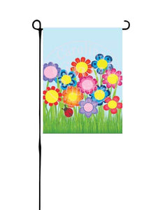 Grandparent Flower Garden Garden Flag