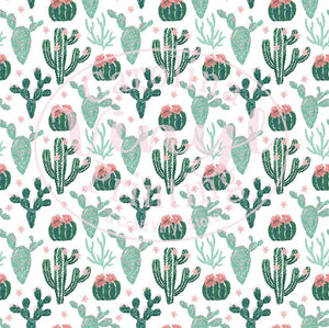 Cactus on White Printed Vinyl