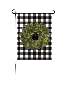 Magnolia Wreath on Buffalo Plaid